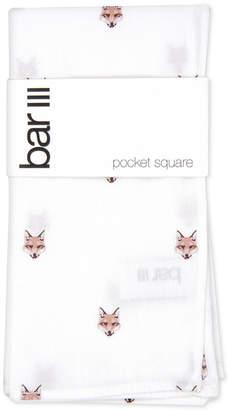 Bar III Men Fox Head Pocket Square