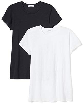 Daily Ritual Women's Washed Cotton Short-Sleeve Crew Neck T-Shirt