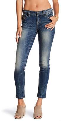 Miss Me Stained Mid Rise Skinny Jeans