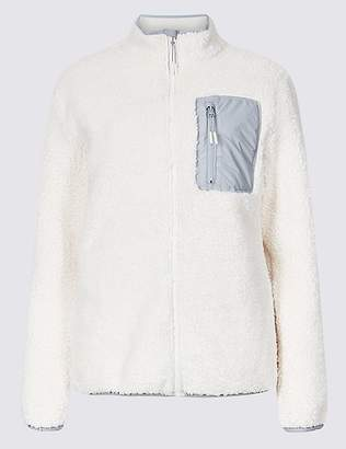 Marks and Spencer Zipped Through Funnel Neck Fleece Jacket