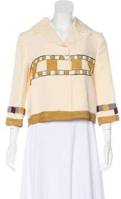 Alberta Ferretti Beading Embellished Notched-Lapel Jacket