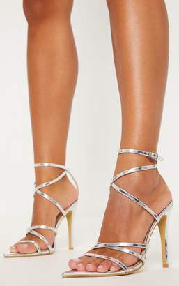 Silver Strappy Sandals Shopstyle Uk