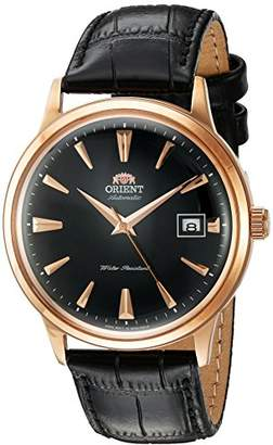 Orient Men's '2nd Gen. Bambino Ver. 1' Japanese Automatic Stainless Steel and Leather Dress Watch