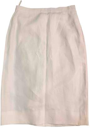 Hermes White Linen Skirts