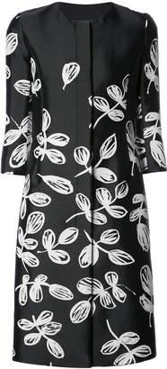 Oscar de la Renta three-quarter sleeves floral coat