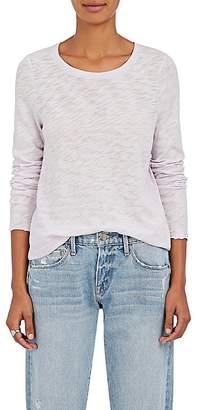 ATM Anthony Thomas Melillo Women's Distressed Cotton Long-Sleeve T-Shirt