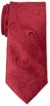 MICHAEL Michael Kors Red Alonso Large Paisley Silk Tie