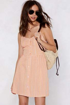 Nasty Gal Square to Dance Gingham Dress