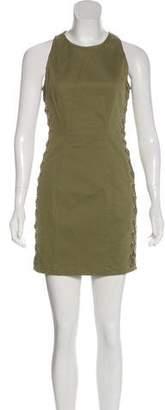 A.L.C. Lace-Up Sleeveless Dress