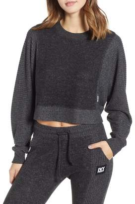 Ivy Park R) Contrast Rib Crop Lounge Sweatshirt