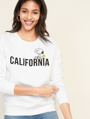 "Old Navy Peanuts Snoopy & Woodstock ""California"" Sweatshirt for Women"