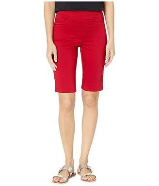 FDJ French Dressing Jeans D-Lux Denim Pull-On Bermuda in Red