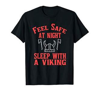 Funny Feel Safe At Night Sleep With Viking T-Shirt