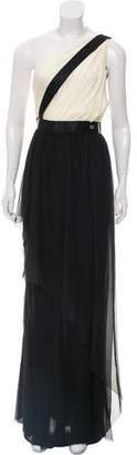 Chanel Silk One-Shoulder Evening Dress w/ Tags