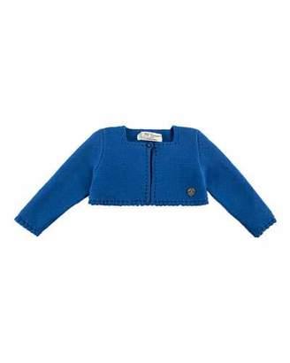 Carrera Pili Short Cotton Knit Cardigan, Blue, Size 12M-3Y