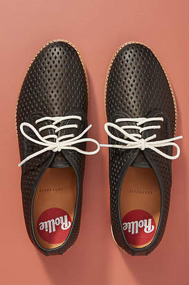 Rollie Derby Punch Perforated Leather Oxfords