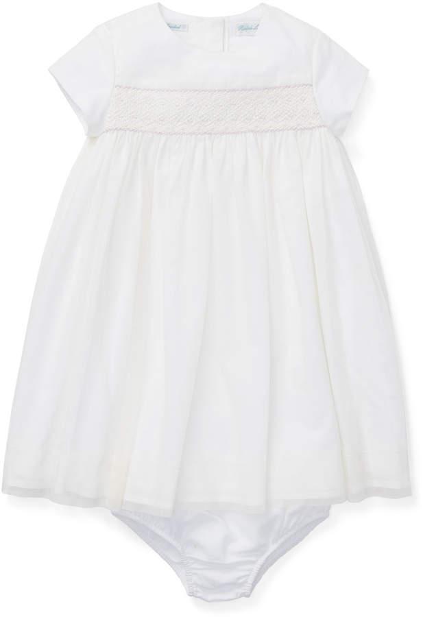 Ralph Lauren Childrenswear Woven Smocked Dress w/ Bloomers, Size 6-24 Months
