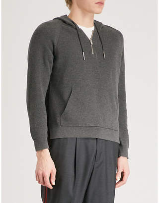 The Kooples Knitted hoody and pocket cotton pullover