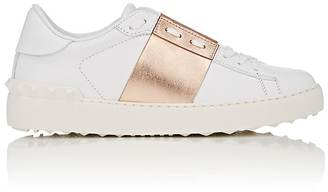 "Valentino Women's ""Open"" Leather Sneakers $695 thestylecure.com"
