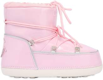 Chiara Ferragni 30mm Faux Patent Leather Snow Boots