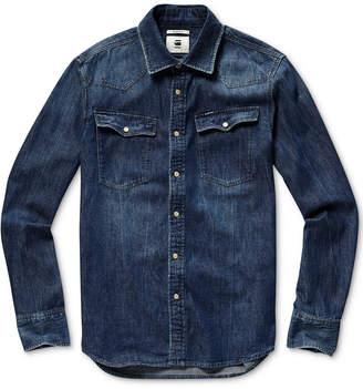 G Star Men 3301 Slim-Fit Denim Western Shirt