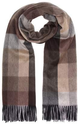 Max Mara Checked cashmere scarf