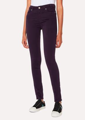 Paul Smith Women's Skinny-Fit Aubergine Denim Jeans