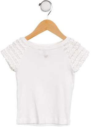 Lili Gaufrette Girls' Ruched Embellished Top