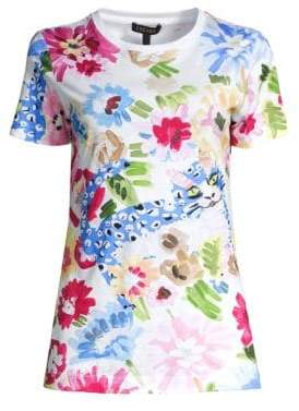 Escada Women's Evanian Garden Floral Top - Size Large