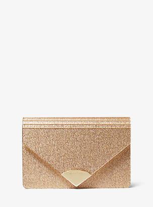 Michael Kors Barbara Metallic Envelope Clutch