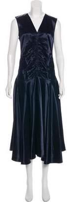 Celine Satin Ruched Dress
