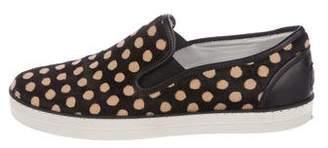 Bottega Veneta Ponyhair Slip-On Sneakers