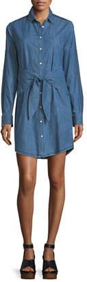 Rag & Bone Sadie Button-Front Long-Sleeve Denim Shirtdress
