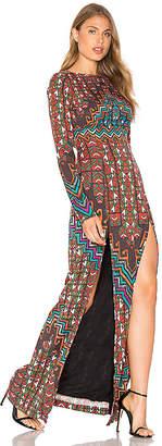 Mara Hoffman Bolnisi Rug Open Back Maxi Dress in Orange $425 thestylecure.com