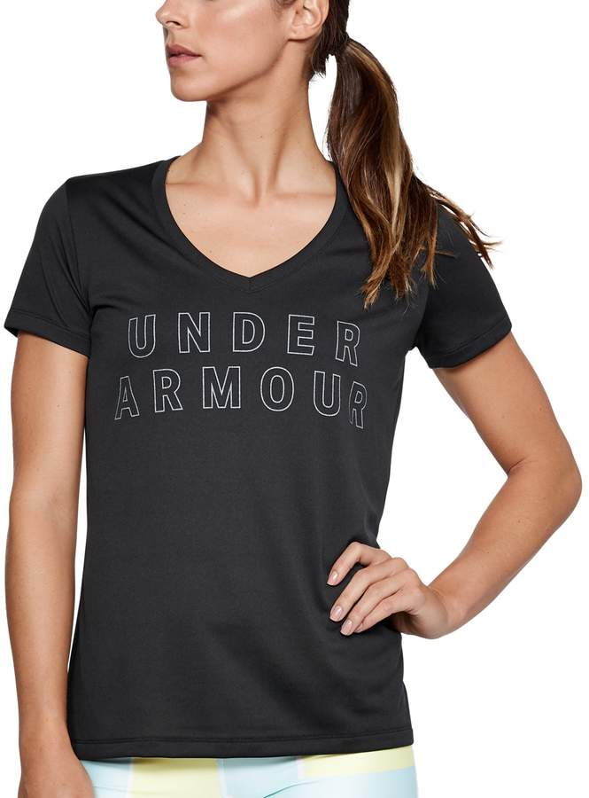 Women's Under Armour Tech Short Sleeve V-Neck Graphic Tee