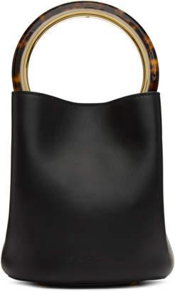 Marni Black Mini Pannier Bucket Bag