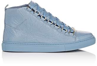 Balenciaga Women's Arena Leather Sneakers $645 thestylecure.com