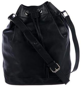Ralph Lauren Leather Drawstring Bucket Bag