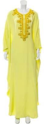 Emilio Pucci Embroidered Silk Dress w/ Tags Chartreuse Embroidered Silk Dress w/ Tags
