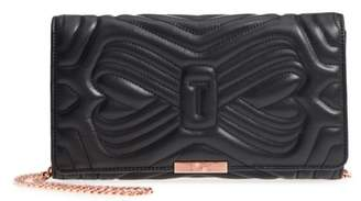 Ted Baker Quilted Bow Leather Clutch