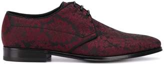 Dolce & Gabbana floral brocade lace-up shoes