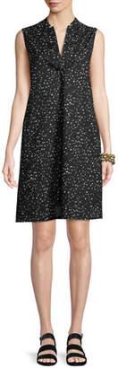 Eileen Fisher Sleeveless Dot-Print A-line Dress, Petite