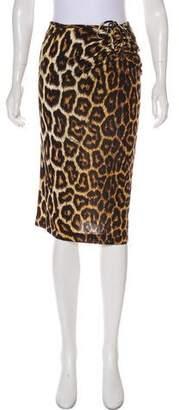 Just Cavalli Animal Print Knee-Length Skirt w/ Tags