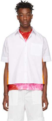 Wales Bonner White and Orange Pocket Short Sleeve Shirt