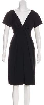 Alexander McQueen Wool Knee-Length Dress