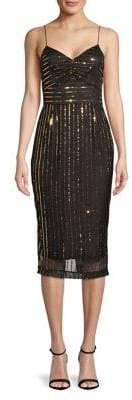 Cooper St Sequin Spaghetti-Strap Dress
