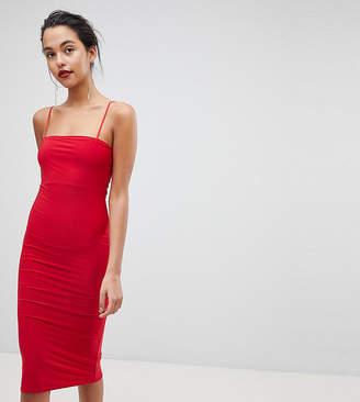 Outrageous Fortune Square Neck Cami Strap Midi Dress