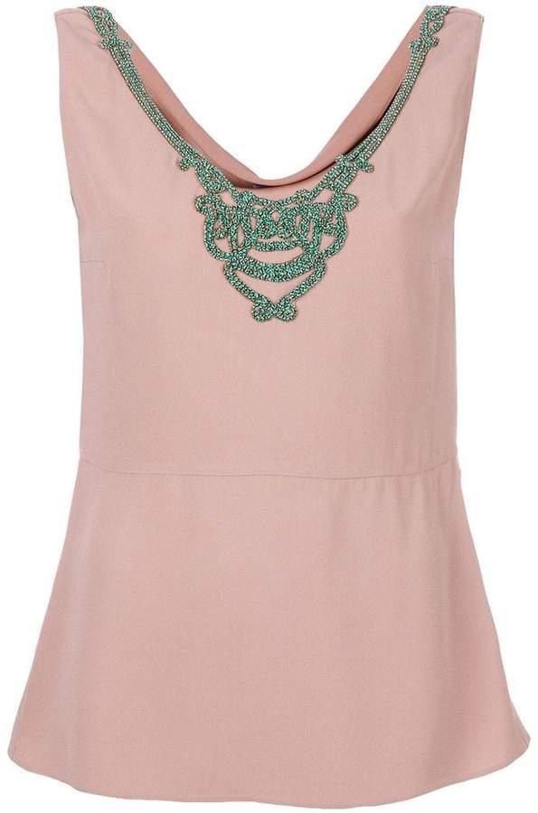 Prada embroidered blouse