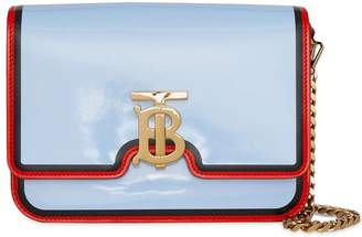 Burberry Small Painted Edge Leather TB Bag