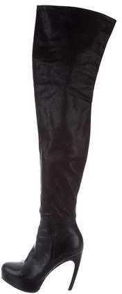 Vera Wang Lavender Label Platform Thigh-High Boots
